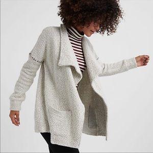 Lucky Brand Gray Blanket Stich Cardigan